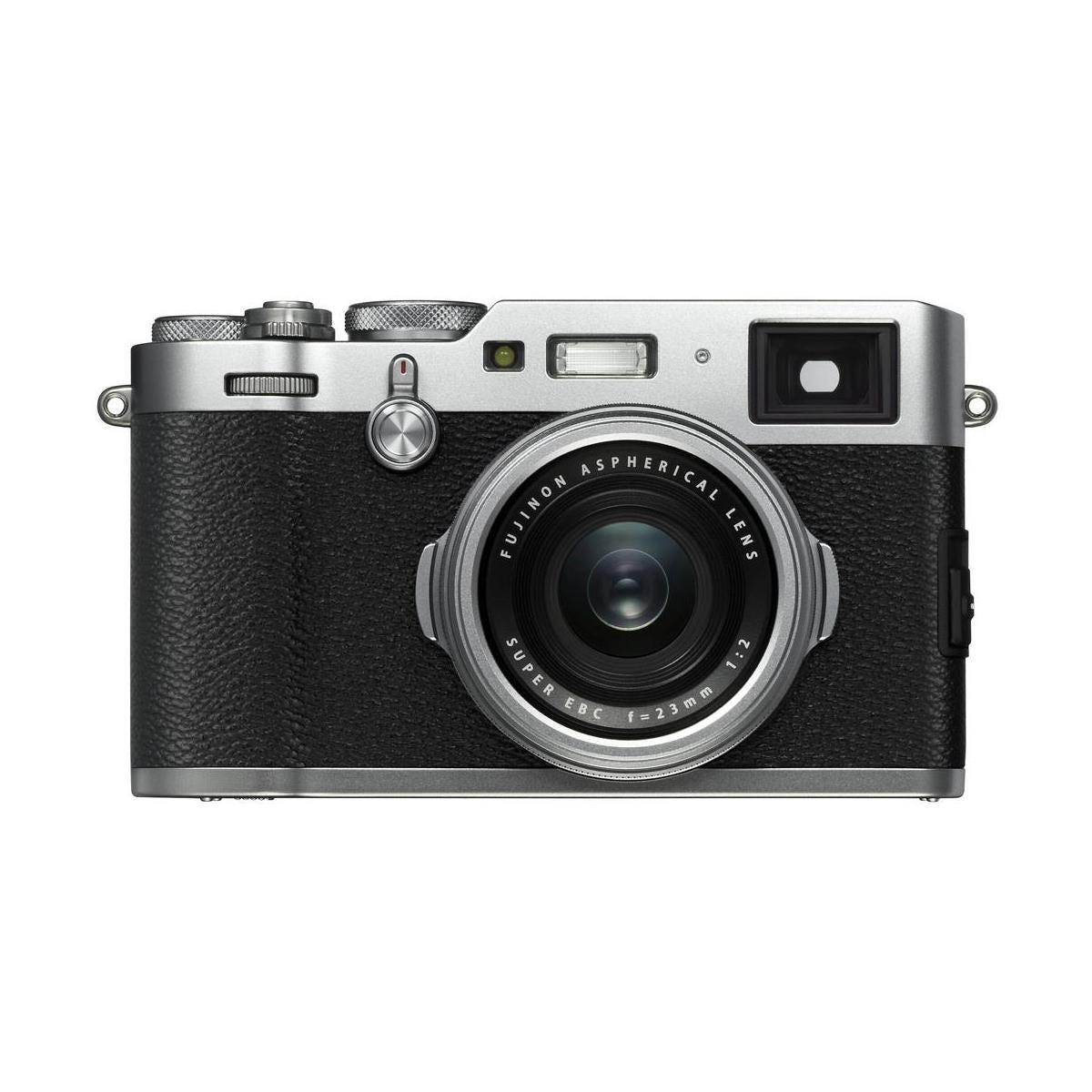 Fujifilm X100F 24 3MP Digital Camera, Fujinon 23mm f/2 Lens, Silver
